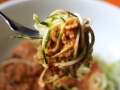 Courgette / Zuchini Noodles with Cashew  Cheesy Pepper Sauce