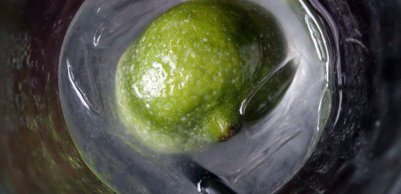 Cool Drinks: Lime Ice Cubes